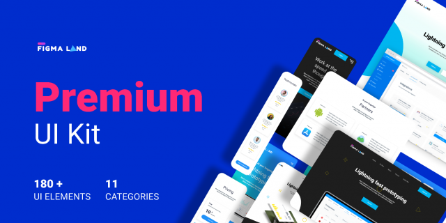 Free figma Premium UI Kit Figmaland