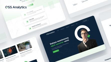 Free Figma QSS Analytics Landing Page Template