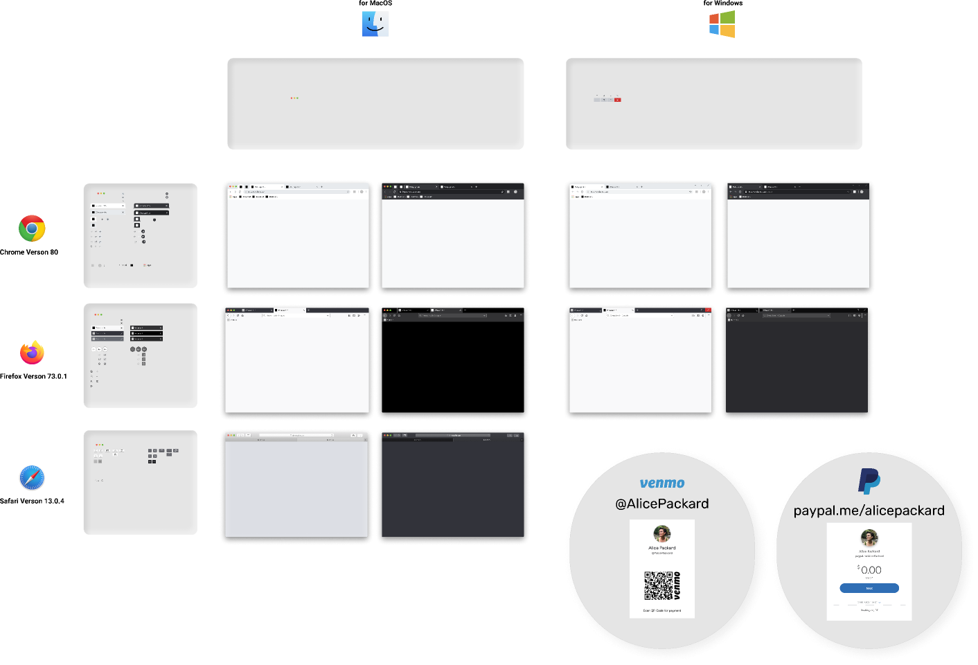 Free figma Resource Web Browser Mockup