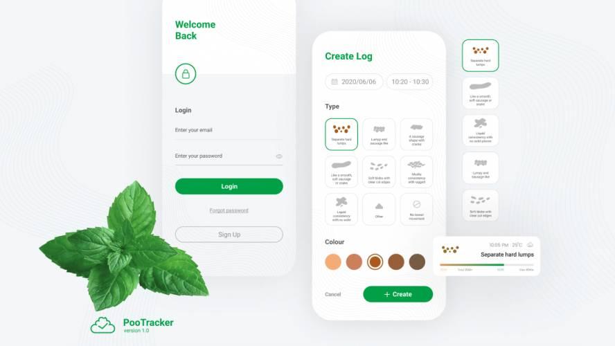 Free Figma Template App PooTracker