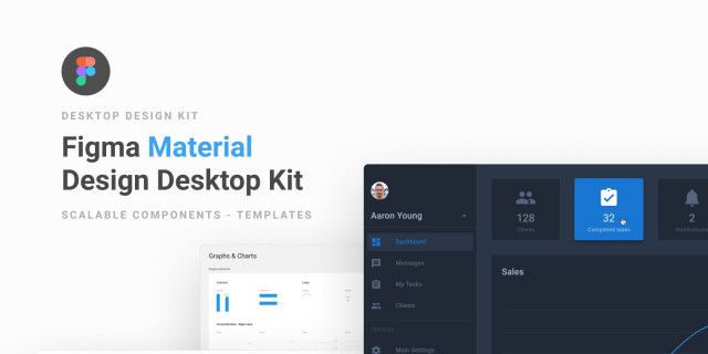 Free Figma Template Material Design UI Kit & Component Library