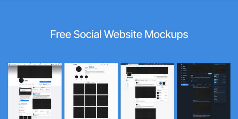 Free Figma Template Social Website UI