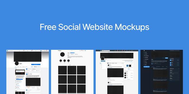 Free Figma Template Social Website UI