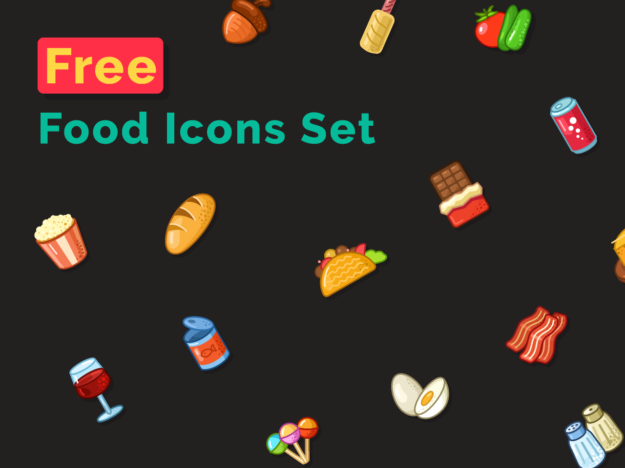 Free Food Icons Set Figma free