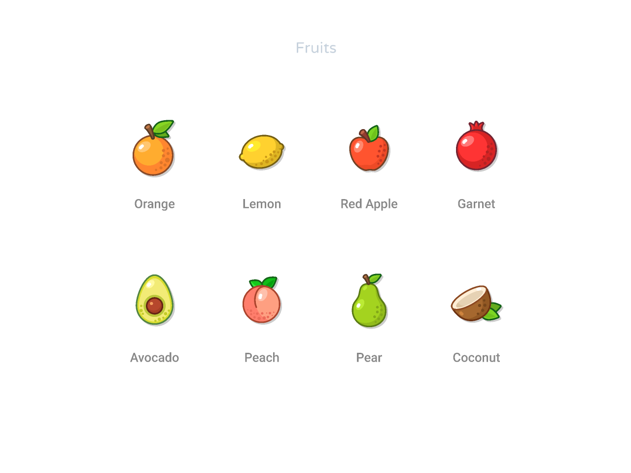 Free Fruits and Vegetables Icons Set Figma