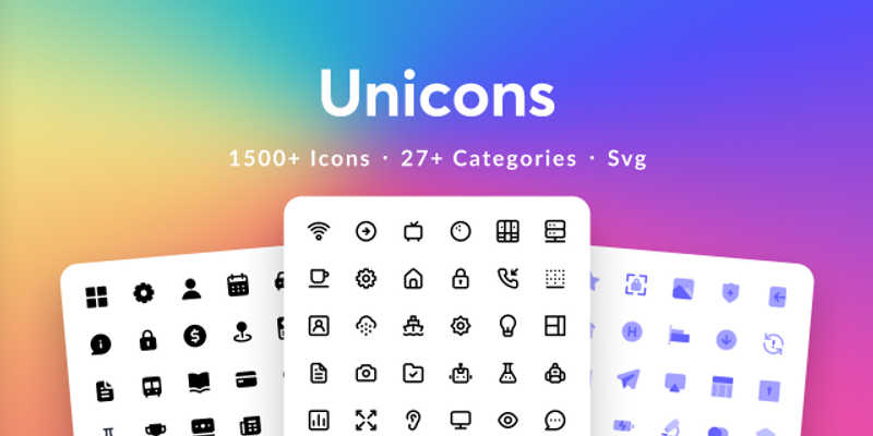 Free icon figma (Unicons)