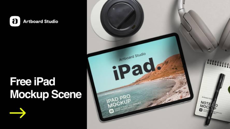 Free iPad Mockup Figma Template