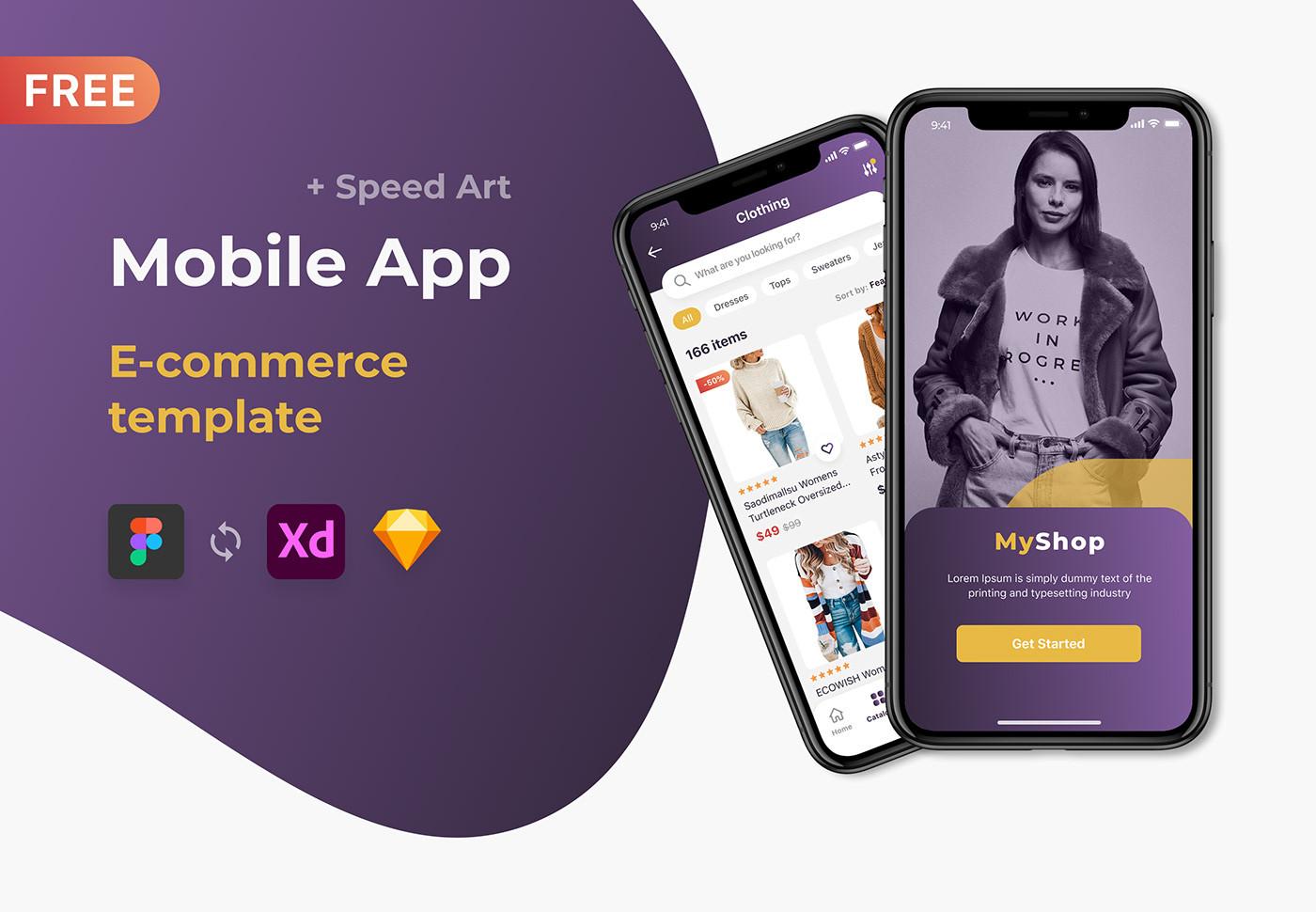 Free Mobile App\E-commerce template\Figma\UI\Store\Shop