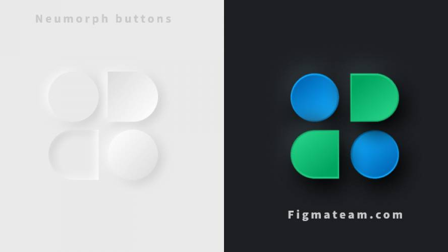 Free Neumorph Buttons FigmaTeam