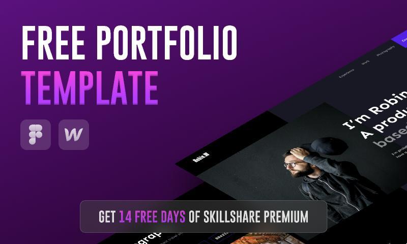 Free Portfolio Template - Figma & Webflow Course figma