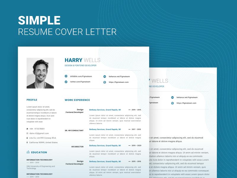 Free Simple Resume (figma file)