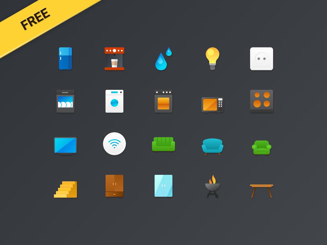 Free Smart Home Figma Icons