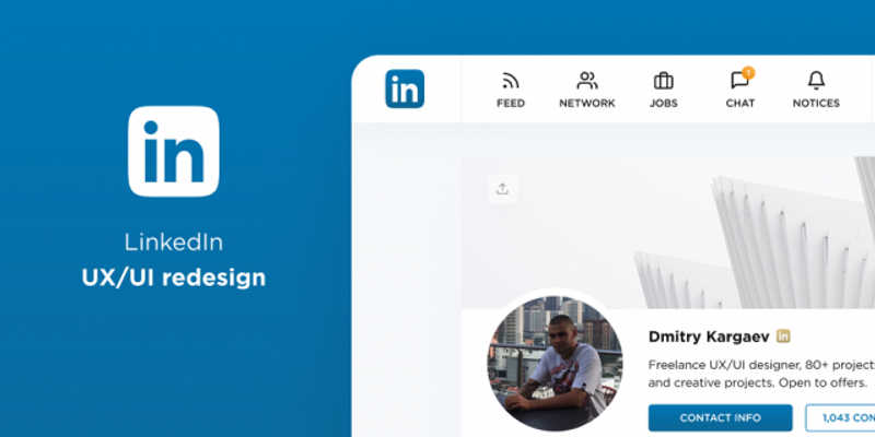 Free Template Figma Re-Design LinkedIn