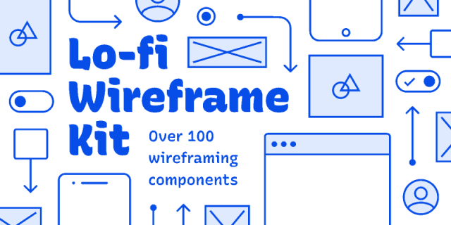 Free Wireframe Kit (Lo-fi Wireframe Kit)