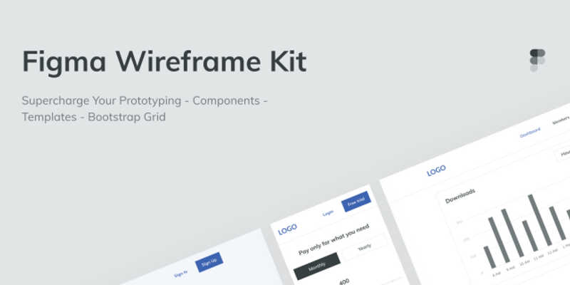 Free Wireframe UI Kit Figma Template