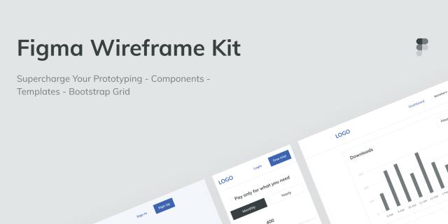Free Wireframe UI Kit Figma Template
