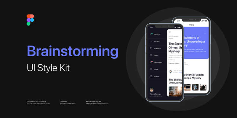 Freebie Brainstorming UI Style Kit (Figma)