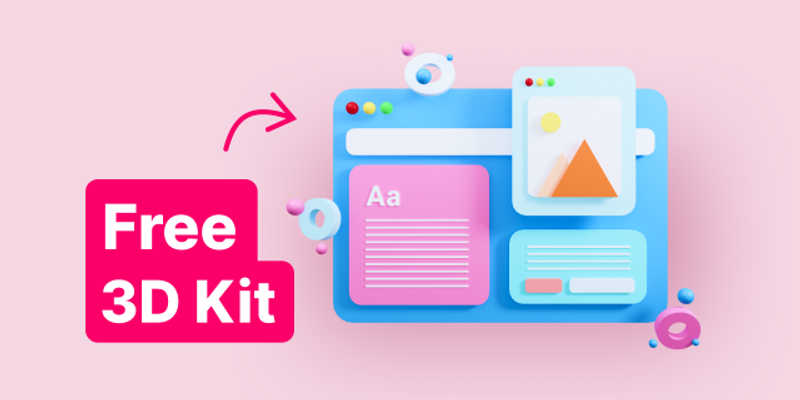 Freebie Figma 3D Mac Illustrations
