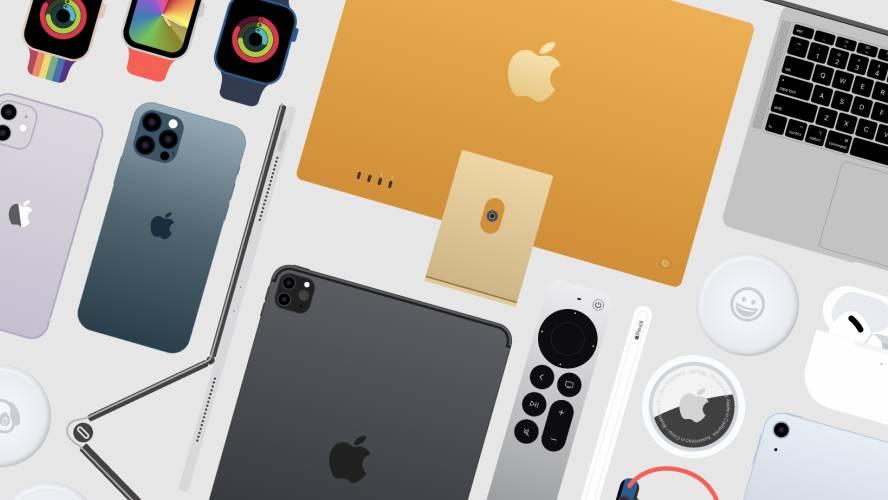 Freebie figma Apple Products UI Kit