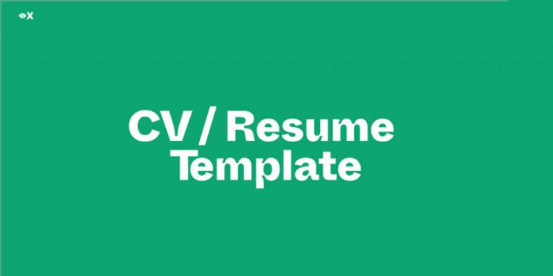 Freebie Figma CV / Resume Template