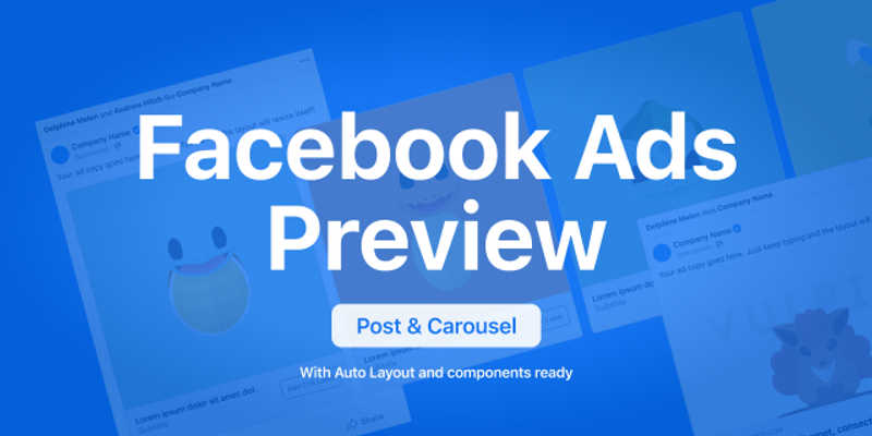 Freebie Figma Facebook Ad Post & Carousel Previewer