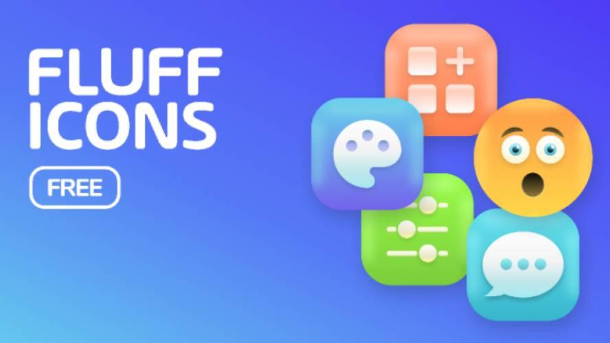 Freebie Figma Fluff Icons