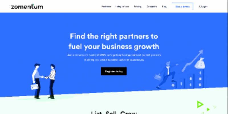 Freebie Figma Landing Page for - Zomentum