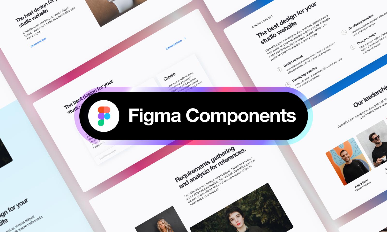 Freebie Figma Landing page UI Kit + Components