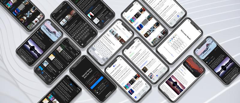 Freebie Figma Mavi News iOS App