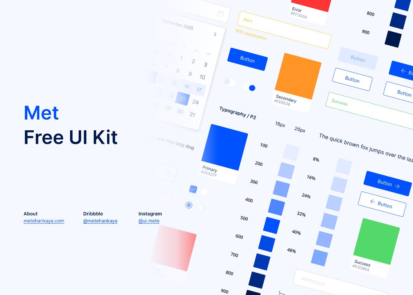 Freebie Figma Met UI Kit (Demo) template