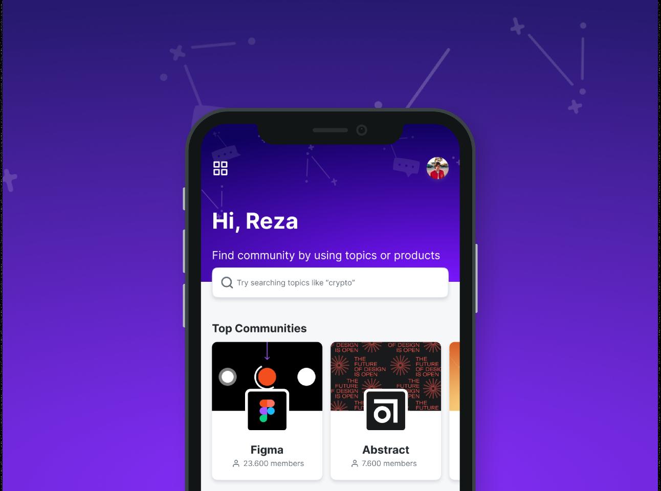 Freebie Figma Spectrum.chat (Unofficial) - Community Online Platform - UI Design