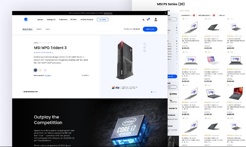 Freebie Figma Tech Online Store Design Template