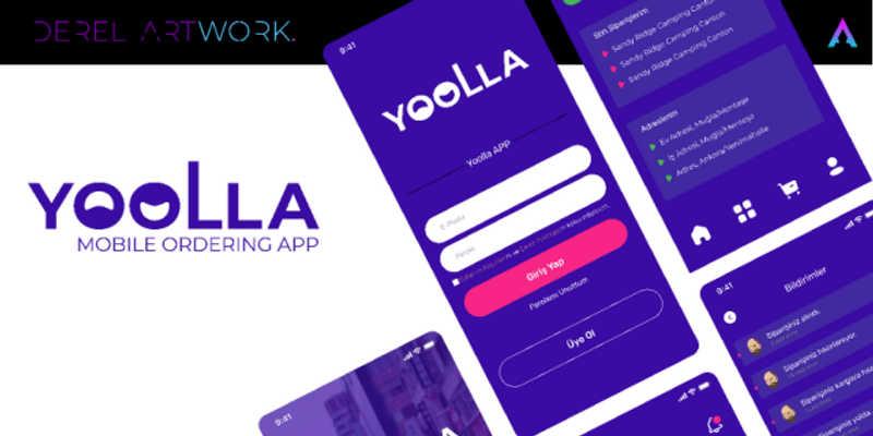 Freebie Figma Template YOOLLA APP (Mobile Ordering App)
