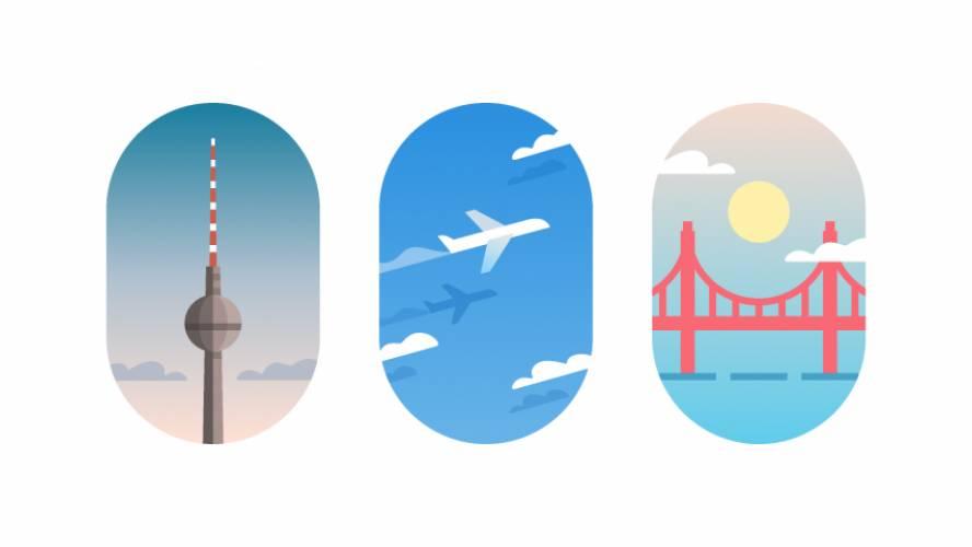 Freebie Figma Travel Vignettes Template
