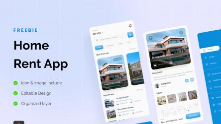 [Freebie] Home Rent App UI Design Figma