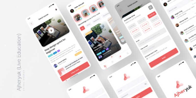 Freebie Live Education Mobile Apps (Figma Template)