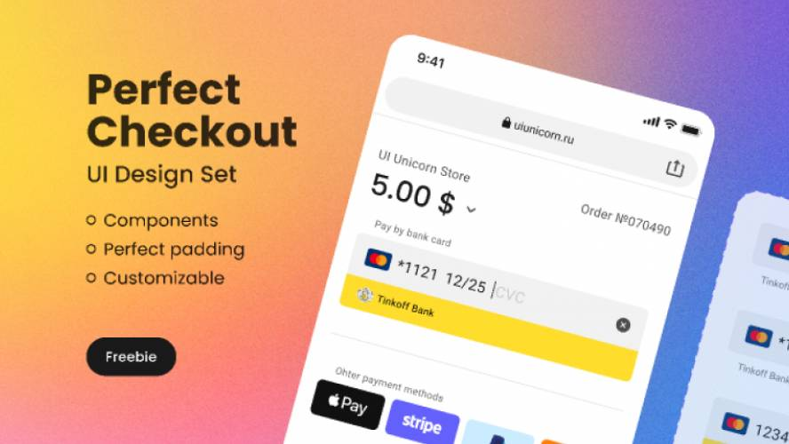 (Freebie) Perfect-Checkout-UI-Design-Set Figma Template