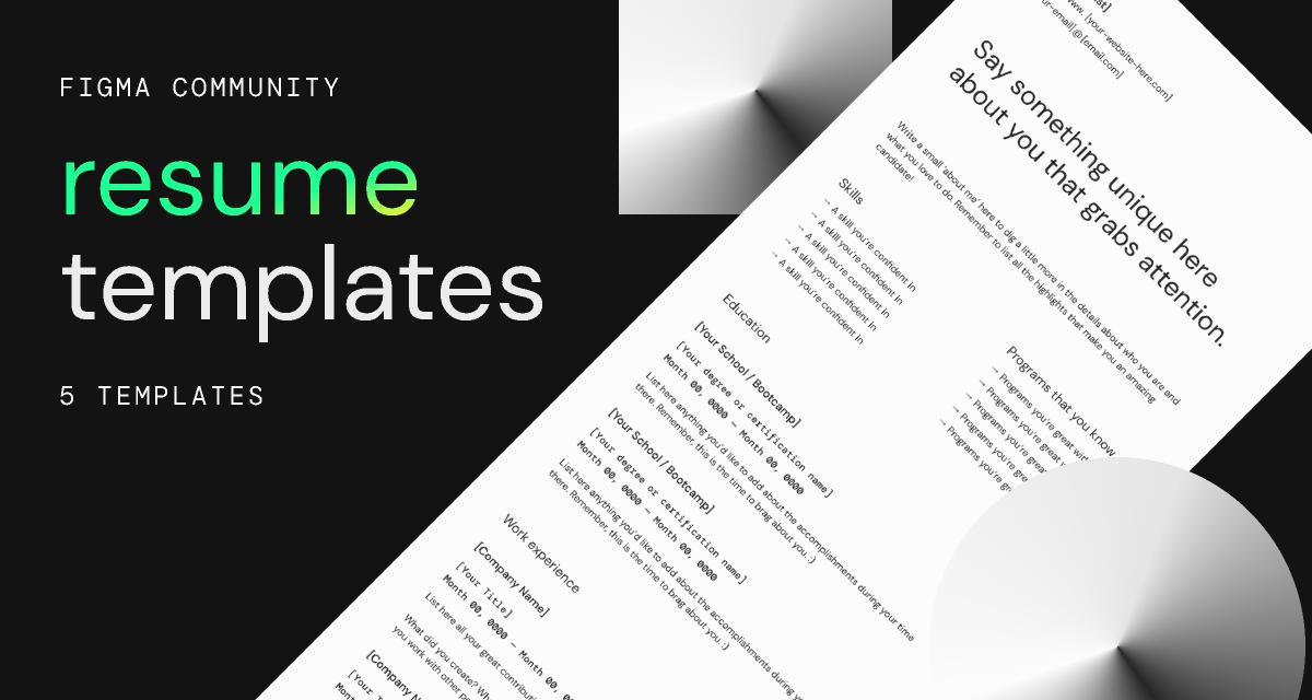 Freebie Resume Templates (Figma)