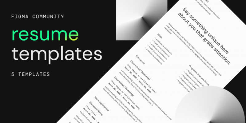 Freebie Resume Templates (Figma)