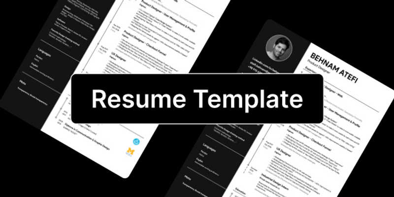 Freebie Simple Resume Template (Figma template)