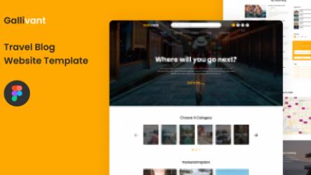 Freebie Travel Blog Figma Template