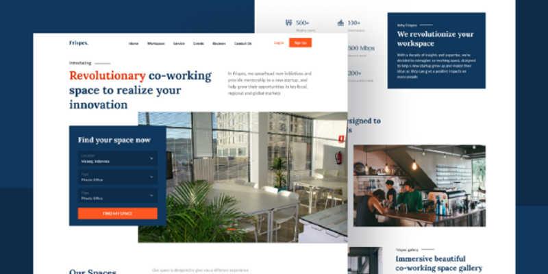 Frispes Landing Page - [ Free UI Kit ]