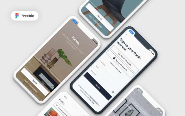 Fumio - Furniture Shop App Figma