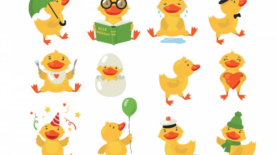 Funny duckling set figma free template