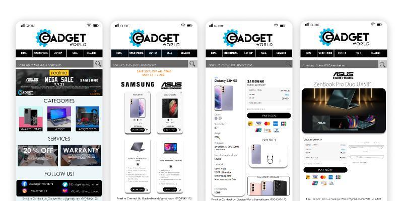 Gadgeta Online Store Figma design