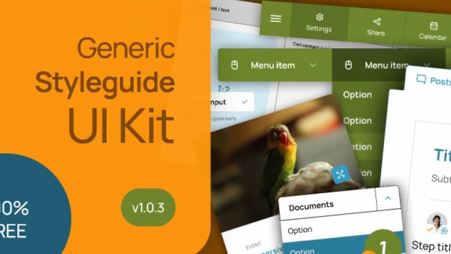 Generic styleguide + UI kit
