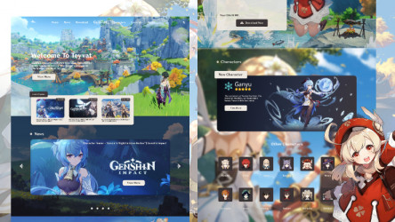 Genshin Impact Landing Page