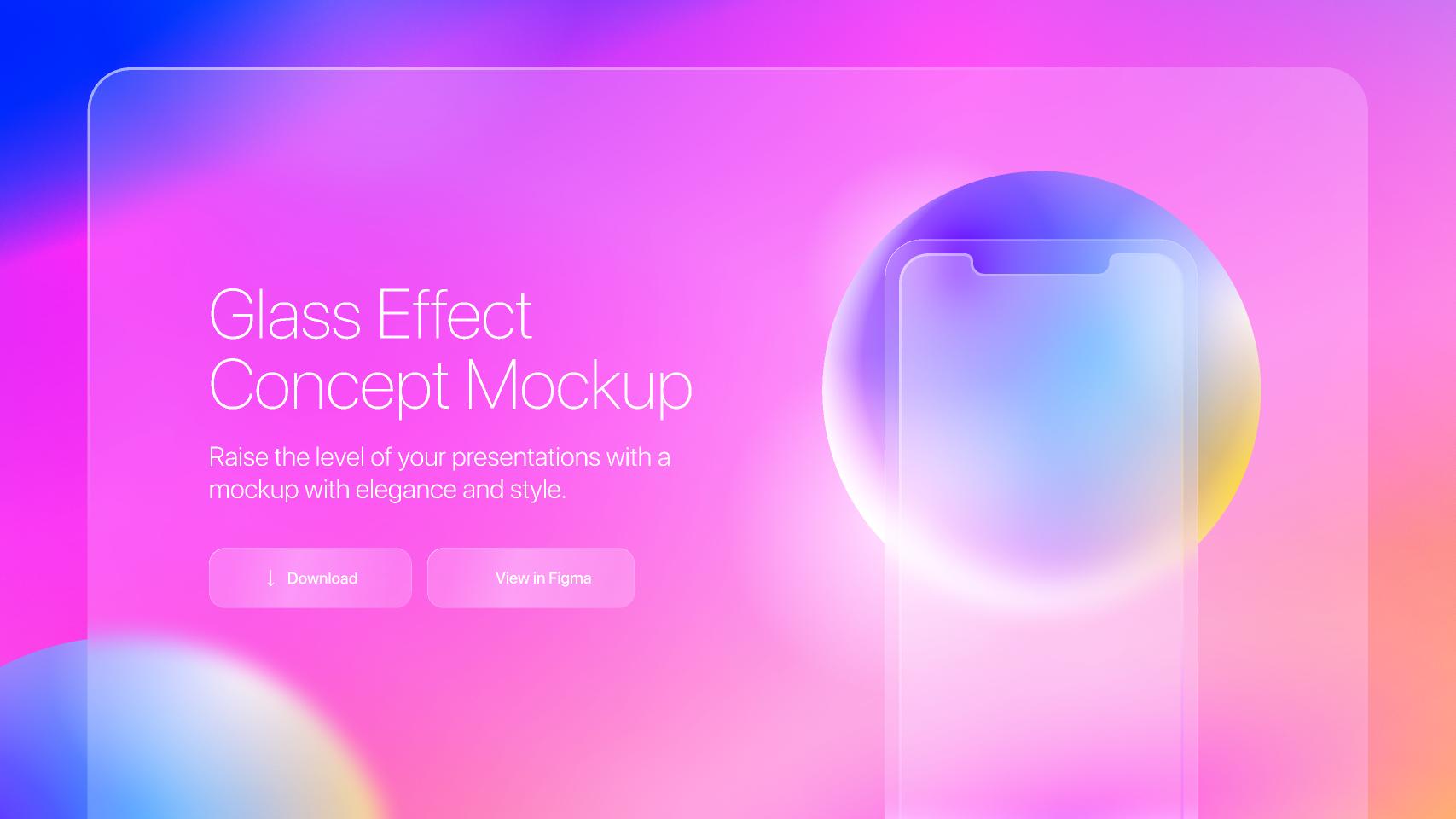 Glass Effect Concept Mockup figma