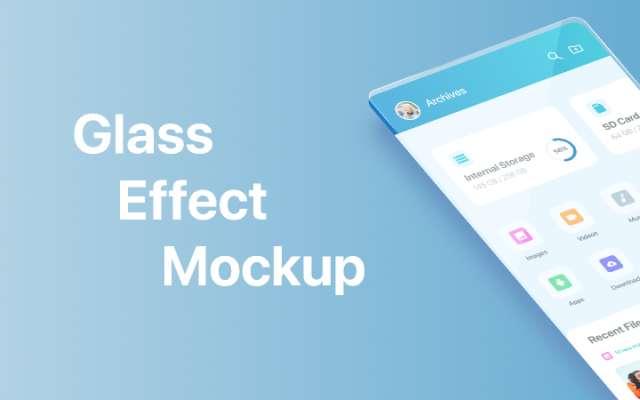 Glass Effect Mockup figma