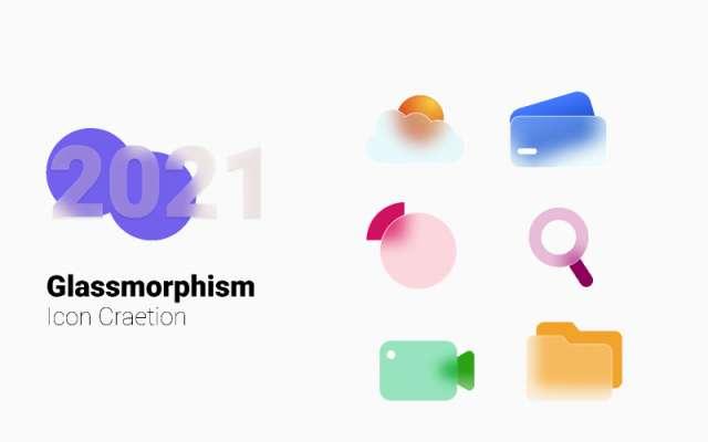 Glassmorph Icon figma free